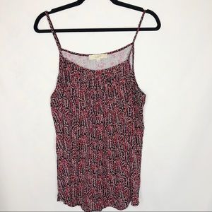 LOFT Floral Adjustable Spaghetti Strap Tank Top